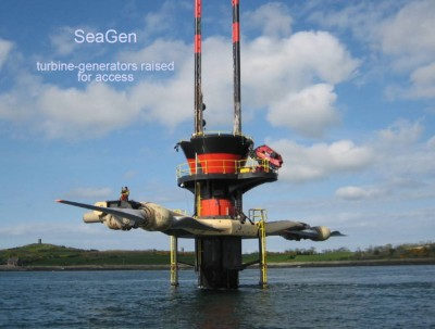 SeaGen 1.2 MW tidal turbine at Strangford Lough, N. Ireland