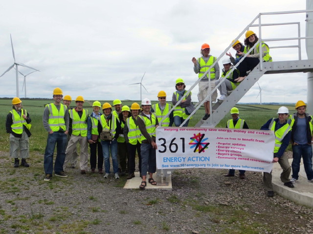 361 Energy on a site visit to Fullabrook wind farm